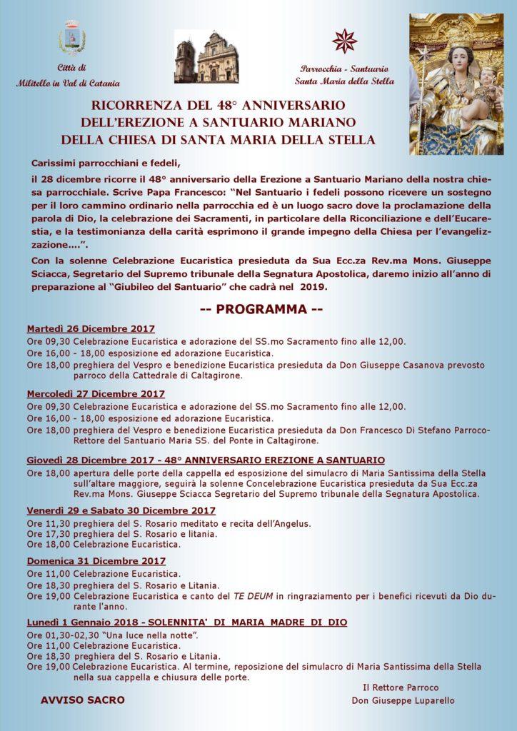 Locandina 48° Anniversario Santuario - Copia