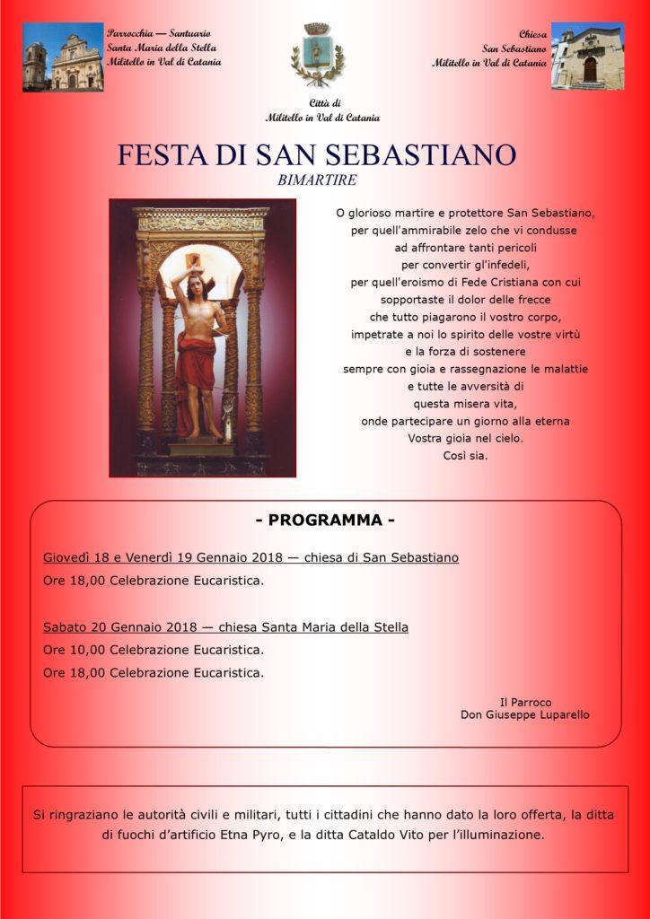 Locandina festa San Sebastiano-2018