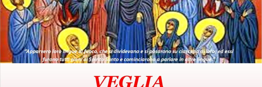 Locandina veglia di Pentecoste