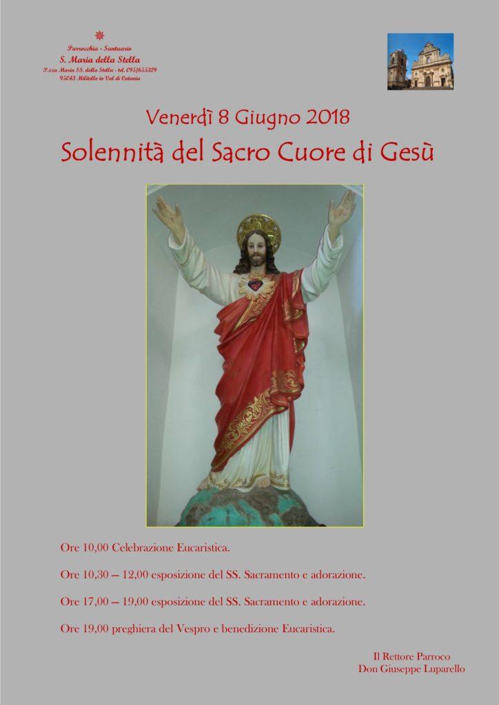 Locandina festa Sacro Cuore di Gesù