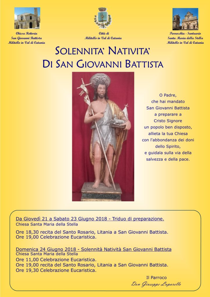 Locandina festa San Giovanni Battista
