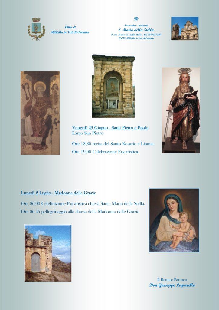 Locandina feste S Pietro-Madonna delle Grazie 2018
