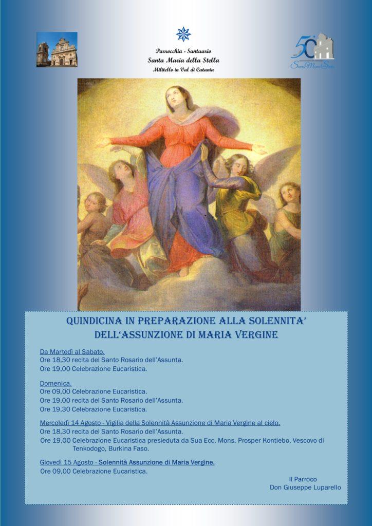 Locandina Quindicina Assunzione di Maria