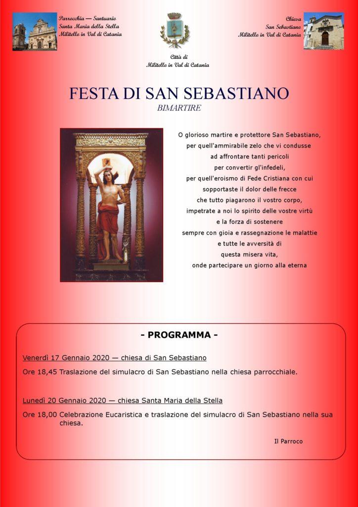 Locandina festa San Sebastiano-2020