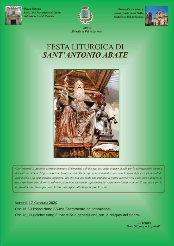 Locandina festa Sant'Antonio Abate